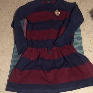 Girls gently used polo rugby dress